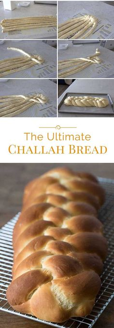 Challah is a rich, buttery bread made for the Jewish Sabbath. This Ultimate Chal… Challah is a rich, buttery bread made for the Jewish Sabbath. This Ultimate Challah Bread recipe is based on a recipe handed down from one generation to another. Comida Judaica, Jewish Sabbath, Challah Bread Recipes, Kosher Bread Recipe, Baking Recipes, Dessert Recipes, Delicious Desserts, Oxtail Recipes, Jewish Recipes