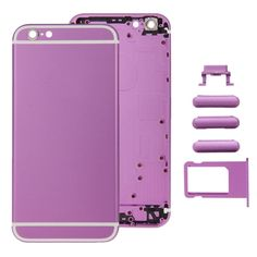 [$44.59] iPartsBuy Full Assembly Replacement Housing Cover for iPhone 6S, Including Back Cover & Card Tray & Volume Control Key & Power Button & Mute Switch Vibrator Key(Purple)