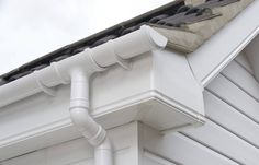 UPVC fascia and cladding simple but effective guttering.