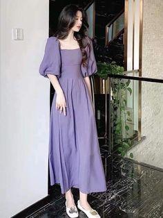 Frock Fashion, Korean Fashion Dress, Korean Street Fashion, Kpop Fashion Outfits, Girls Fashion Clothes, Girly Outfits, Cute Casual Outfits, Cute Fashion, Modest Fashion