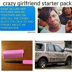 Crazy black boyfriend meme