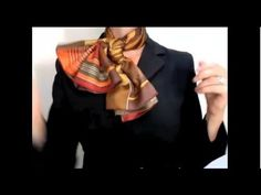 And I love MaiTai Collection! How to tie a scarf into a pleated bow knot, and her site has every other scarf tie option you can imagine, fully demonstrated. Go there, now. :-)