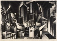 Lithograph; 31.1 x 44.9 cm.    Jan Matulka