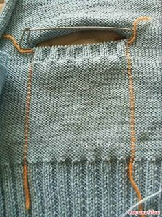 Вязание ленивого кармана