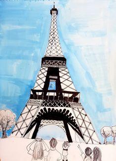 위례미술학원/고학년미술 : 네이버 블로그 Art For Kids, Crafts For Kids, Art School, Art Projects, Drawings, Building, Travel, Tour Eiffel, Camping