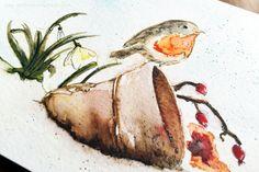 art scrap & more: a PB one-layer Christmas Card // Carte de Noël à l'Aquarelle