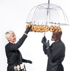Rain, rain go away...our new #Pretzel Umbrellas will keep you dry and satiated throughout the day ☂ #notaprilfools #comingsoon