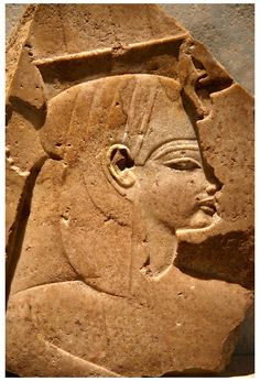 Quartz ancient Egyptian relief sculpture of Queen Tiy from the funerary temple of Amenohis III, West Thebes. 18th Dynasty Ancient Egypt, 1375 BC . | © Paul E Williams 2013