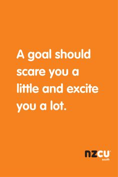 A goal should scare you a little and excite you a lot.