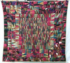 Spectacular Satin African-American Quilt from Baltimore from folkartisans on Ruby Lane