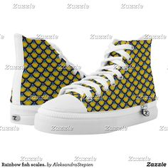 Cute Shoes, On Shoes, Dragon Skin, Rainbow Fish, Custom Sneakers, Converse Chuck Taylor, Classic Style, High Tops, High Top Sneakers