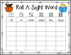 {FREEBIE!} Roll A Sight Word - Editable!!!  What a great way to differentiate for your students. :)