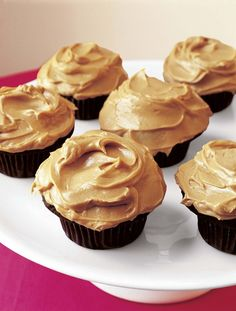 The ultimate back-to-school treat. Ina Garten's Chocolate Cupcakes with Peanut Butter Frosting - Barefoot Contessa @inaofficial