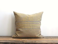 Karnataka throw pillow main de couverture par ChaneeVijayTextiles, $75.00