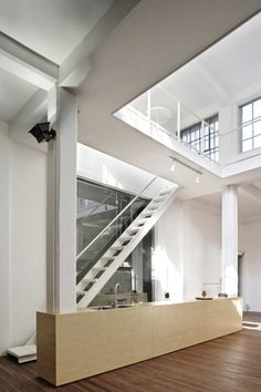 XL+ Office Space / Architects: & Architecture K: Shanghai, China Interior Stairs, Interior And Exterior, Interior Ideas, Loft Style, City Architecture, Loft Spaces, Office Interiors, Interiores Design, The Office