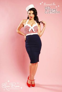Nautical Wiggle Dress!