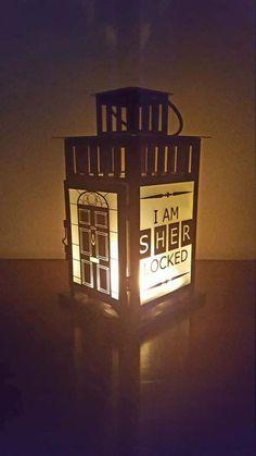 Sherlock BBC Inspired Lantern Benedict Cumberbatch Martin Freeman