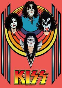 KISS Blacklight Poster (1976)