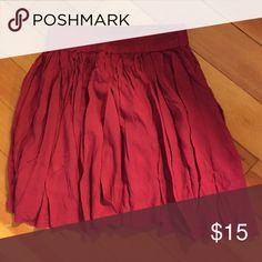 "Pleated miniskirt with elastic waist. Pleated miniskirt in a vivid fuschia with an elastic waist. Rayon. 15"" long. Lorimer NYC Skirts Mini"