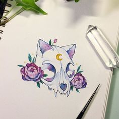 Skull + flowers I've been in a very flowery mood lately✨ on another note, do you guys have any cool artists you could recommend me?? Preferably those with a following under 100k since I know most of those! I'm looking for some cool new art to inspire me