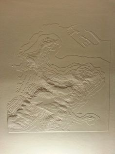 Table mountain I . Blind Embossing. Gervasio Robles Hurtado