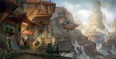 Resultado de imagen de fantasy art city