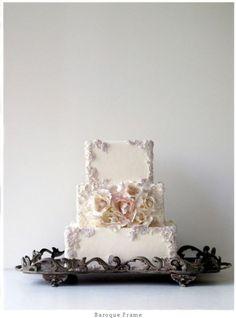 Hermoso pastel de boda.