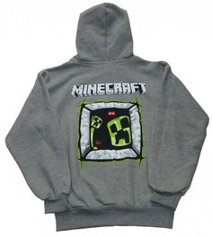 Bluza MINE-craft - POLSKA - 146 szara Hoodies, Sweatshirts, Minecraft, Sweaters, Fashion, Hipster Stuff, Moda, Fashion Styles, Parka