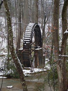 2008 Water Wheel Snow, Gilreath Mill, Greer, SC by scmikeburton, via Flickr