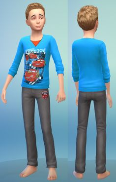 Outfit for boys by bienchen83 at Sim2me via Sims 4 Updates