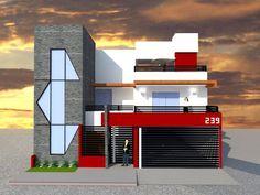 FACHADA PRINCIPAL: Casas de estilo moderno por ROJAS Arquitectura Diferente