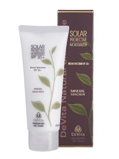 DeVita Natural Skin Care Solar Protective Moisturizer SPF 30: http://beautyeditor.ca/2014/07/16/best-natural-sunscreen/