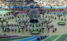 All the Best Pictures From Brazil's World Cup Opening Ceremony: Bright lights and flashy performances kicked off the 2014 World Cup on Thursday, with thousands of people gathering for the opening ceremony in São Paulo, Brazil.