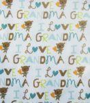 Snuggle Flannel Fabric-I Love Grandma Pink at Joann.com