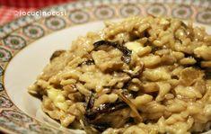Risotto radicchio funghi e brie | Ricetta primo piatto