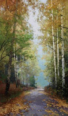 Картины (живопись) : Тропинка в осень. Автор Юрий Юрьевич Прядко