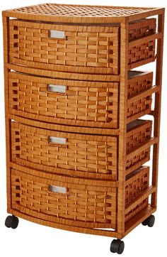Oriental Furniture Natural Fiber Chest of Drawers - Honey Chest Drawers, Storage Chest, Oriental Furniture, Wicker, Honey, Natural, Home Decor, Decoration Home, Room Decor