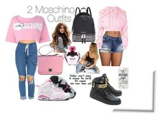"""2 Moschino Outfits"" by copperperro ❤ liked on Polyvore featuring Moschino, NIKE and Michael Kors"