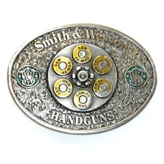 Smith Wesson 44 Magnum Color Bergamot Pewter Belt Buckle