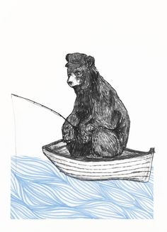 bear in a boat - Google Search