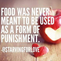 Food was never meant to be used as a form of punishment.