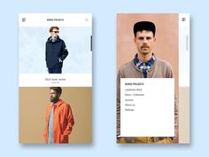 Norse Projects App Design by Lewis Ombler