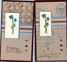 Galleria - Galleria Wing Selection: 2007 - Exhibit: Birthday Cards using Academy GTG