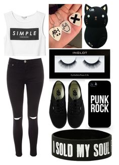 """""""Simple"""" by piksist ❤ liked on Polyvore featuring Glamorous, Monki, Samsung and Vans"""