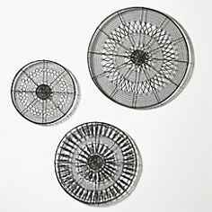 View larger image of 3-Piece Intricate Circle Metal Wall Art Set