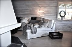 Basement space in shades of gray