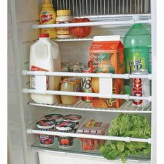 New Camco 44053 RV White Refrigerator Bar pack Camper Camping Travel Trailer Motorhome, Rangement Caravaning, Rv Refrigerator, Camper Hacks, Rv Hacks, Diy Camper, Truck Camper, Camper Van, Camper Storage