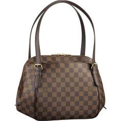 Fashion Style,Louis Vuitton Damier Ebene Canvas Belem Mm N51174 Ahc-238