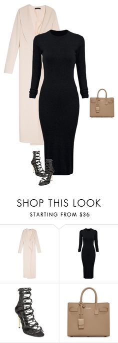 """Untitled #1687"" by quaybrooks on Polyvore featuring The Row, WithChic, Balmain, Yves Saint Laurent, women's clothing, women, female, woman, misses and juniors"