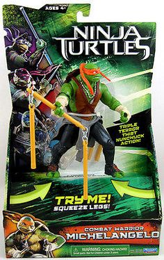 Teenage Mutant Ninja Turtles Movie: Playmates: Deluxe Michelangelo Figure MOC